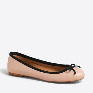 New Coco Leather Ballet Flat, J.Crew, Size 9.